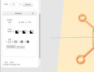 Einstellmöglichkeiten für die kostenlose Modelle für hobby3DDrucker