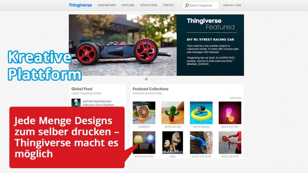Jede Menge Designs zum selber drucken – Thingiverse macht es möglich